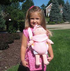 CROCHET N PLAY DESIGNS: New Crochet Pattern: Baby Doll Carrier & Portable Bassinet