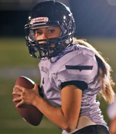 Karlie Harmon is the quarterback of her youth tackle football team in a Heads Up Football league. Yes, Karlie is a girl, but that has not stopped her from joining the all-boys tackle football team.  She wants to be noticed for her hard work, not her ponytail.  Karlie has shown the world that hard work pays off. Off the field, Karlie carries that same work ethic through her work with Wounded Warrior Project.   Karlie was selected as a finalist for the Together We Make Football contest.