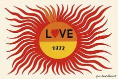 We're+Crushing+On+Yves+Saint+Laurent's+Vintage+Love+Cards+via+@MyDomaine