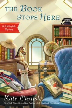 The Book Stops Here: A Bibliophile Mystery by Kate Carlisle,http://www.amazon.com/dp/0451415981/ref=cm_sw_r_pi_dp_xBiPsb18HW9JNEGG