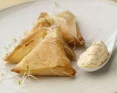 Samoussas au saumon et au fromage fouetté Ingrédients