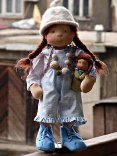 Astrid and her little dolly