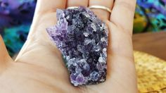 Uruguayan Dark Amethyst cluster extra quality ~ 1 small reiki infused cluster approx 51x36x14mm (E20) by Kiliamma on Etsy