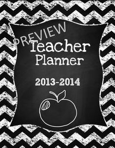 Teacher & Lesson Planner Editable with Common Core SS {Chalk It Up!}, print and go or customize it in Power Point, Includes Common Core Standards for ELA and Math K-5, and one for 6th grade too, $