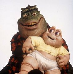 Dyno and Baby Sinclair, loved this show!