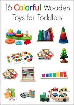 Gift Guide: 16 Colorful Wooden Toys for Toddlers~ Buggy and Buddy