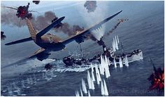 Strike in the Aegeean by Alex Hamilton  June 1st 1944, north of Crete. Beaufighters of 252 squadron attack a convoy consisting of 3 supply s...