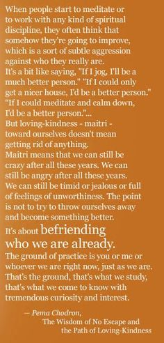 The Wisdom of Pema.   Love her!  JBD