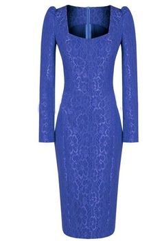 Morpheus Boutique  - Blue Jacquard Floral Long Sleeve Shoulder Celebrity Lady Pencil Dress, $159.00 (http://www.morpheusboutique.com/blue-jacquard-floral-long-sleeve-shoulder-celebrity-lady-pencil-dress/)