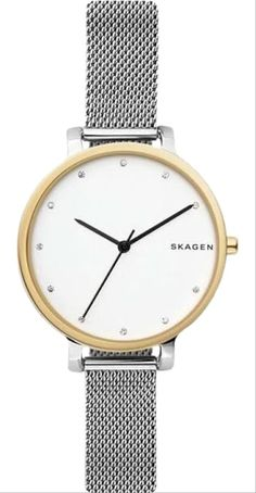 Shop the latest collection of Skagen Women's Hagen Two Tone Stainless Steel Mesh Watch from the most popular stores - all in one place. Similar products are available. Skagen Watches, Big Watches, Best Watches For Men, Cool Watches, Mesh Bracelet, Bracelet Watch, Mesh Armband, Stainless Steel Mesh, Quartz Watch