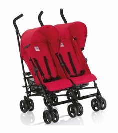 Babies R Us Zobo 2x Side By Side Stroller Cherry