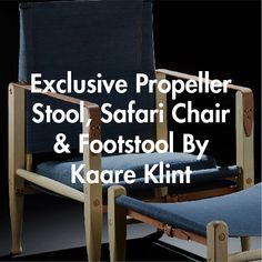Buy the Exclusive Safari Chair Denim by Kaare Klint and more online today at The Conran Shop, the home of classic and contemporary design Danish Furniture, Stool, Chair, Signature Design, Contemporary Design, Safari, Upholstery, Shopping, Home Decor