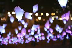 BW architects: kinetic LED installation at tribeca film festival opening