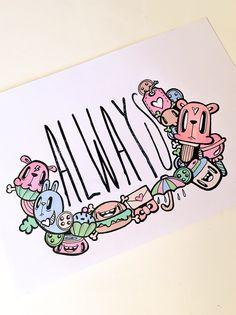 Always original doodle by Miss Wah Instagram: @lil_wah misswah.com http://facebook.com/littlemisswah