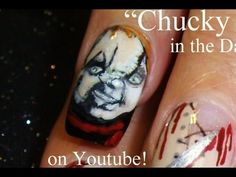 Chucky Nails - Child's Play Nail Art By Robin Moses