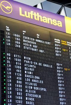 lufthansa Airport Classic Solari Information Board