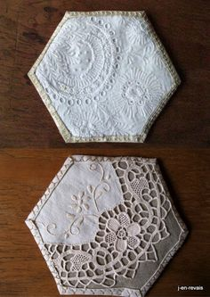 brodibidouillages and company: White Bee Quilt and Old Lace - competition results Emma Patchwork Hexagonal, Hexagon Quilt Pattern, Quilt Patterns, Hexagon Quilting, Block Patterns, Quilting Projects, Quilting Designs, Sewing Projects, Quilting Tutorials