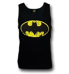 b369229e481 Batman Distressed Symbol Black Tank Top