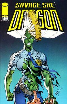 A cover gallery for the comic book Savage Dragon Comic Book Characters, Comic Books Art, Comic Character, Book Art, Dragons Online, Jordi Bernet, Savage Dragon, Alex Toth, Dragon Series