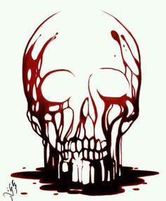 Skull's Blood by ~mohzart on deviantART Blackwork, Surrealist Collage, Totenkopf Tattoos, Colorful Skulls, Skeleton Art, Desenho Tattoo, Arte Pop, Skull Tattoos, Skull And Bones