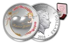 Niue Coins /  2016 Niue 2 Dollar 1 oz Silver Forever Yours Proof