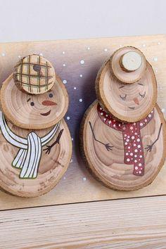 6 Amazing DIY Handmade Christmas Ornaments Design Ideas 6 Amazing DIY Handmade Christmas Ornaments D Homemade Christmas Crafts, Christmas Wood Crafts, Snowman Crafts, Holiday Crafts, Christmas Diy, Rustic Christmas, Christmas Ornaments Handmade, Christmas Design, Christmas Movies