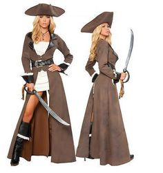 Aliexpress.com : Buy 2013 New Women Sexy Pirate Halloween Cosplay Costume Long Sleeves Performance clothing Uniform Hat from Reliable 2013 New Devil Leather costumes Pirate Costume For Women Halloween Clothes Pirate Uniforms suppliers on Women's Fashion Clothing  Dress Shop $48.99