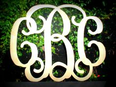 24 Monogram Wood Letter Initials by DadsWoodworkingShop on Etsy, $35.00