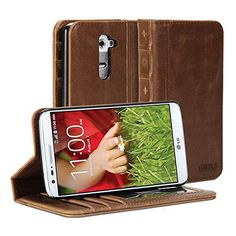LG G2 Case, GMYLE Book Case Vintage for LG G2 - Brown Crazy Horse Pattern PU Leather Wallet Stand Cover GMYLE http://www.amazon.com/dp/B00NL5WULI/ref=cm_sw_r_pi_dp_SnGZub124WMCP
