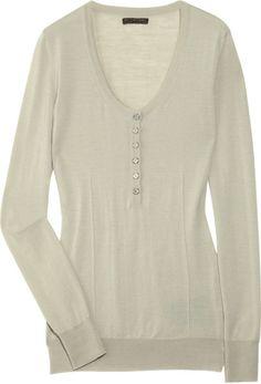 Burberry Prorsum Knitted Silk-blend Sweater in Gray