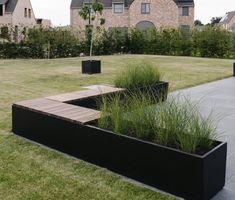 Outdoor Planters, Garden Planters, Outdoor Gardens, Garden Edger, Terrace Garden Design, Garden Paths, Garden Inspiration, Backyard Landscaping, Pergola