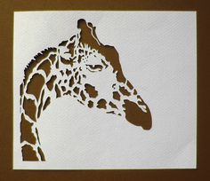 Cut paper giraffe.  Love