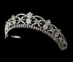 Our Charming Crystal Bridal or Quinceanera Tiara, style hp305, is a stunning headpiece for your special day..