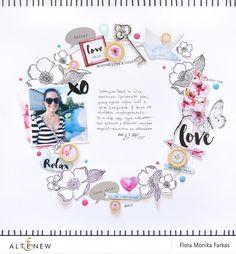 Scrapbook Layout   12X12 layout   Scrapbooking Ideas   Creative Scrapbooker Magazine  #scrapbooking #12X12layout