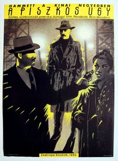 """A piszkos ügy(1982) """"Hammett""""  Hungarian vintage movie poster Artist by: Zoetrope studio"""