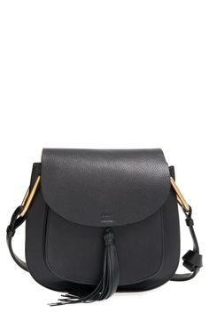 Free shipping and returns on Chloé 'Medium Hudson' Shoulder Bag at Nordstrom.com. A swishy tassel adds a touch of '70s flair to a structured shoulderbag in a minimalist, equestrian-inspired silhouette. Polished goldtone hardware and lavishly textured leather extend the Italian refinement of the must-have style.