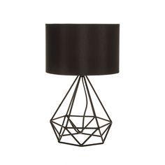 Diamond Shape Industrial Wired Table Lamp Black Tripod Geometric Light Modern in Home, Furniture & DIY, Lighting, Lamps Black Table Lamps, Black Lamps, Black Lights, Nightstand Lamp, Desk Lamp, Table Desk, Decorating Your Home, Interior Decorating, Interior Design