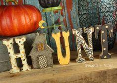 Wooden Haunt Letters | Super Saturday Ideas | Halloween Crafts