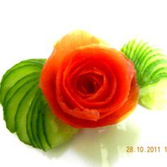 Rose carved by me :) -food craft
