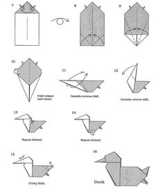 Learn How To Make An Origami Seagull And Duck This Design Was Made Rh Co Uk Diagram Hen Bag Diagrams