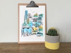 Vicinity Store - I create hand screen printed & painted artworks depicting some of the amazing icons that you will find in the vicinity of Melbourne. I draw and create the illustrations myself. I aim to celebrate all of the things that make Melbourne special to me.