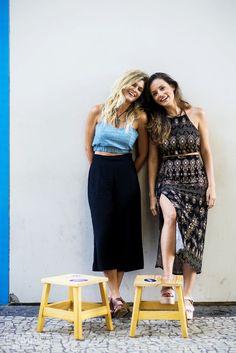 As irmãs Tatiana e Raissa Bazilio criaram a Bazis assim, fazendo uma aposta pra empreender a própria marca de roupas.