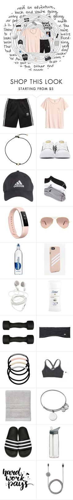 """❀; day 3"" by the-adventures-of-sydney ❤ liked on Polyvore featuring adidas Originals, adidas, Fitbit, Ray-Ban, Dove, Casall, L. Erickson, Gap, SONOMA Goods for Life and Alex and Ani"