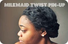 Milkmaid Twist Pin-Up | 20 Natural Hairstyles To Combat Summer Heat And Humidity
