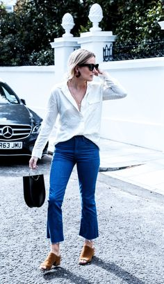 So chic, comfy and fashioned! 17 Street Style–Approved Ways to Wear Blue Jeans via @WhoWhatWearUK