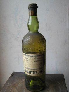 Bouteille de chartreuse jaune - Années 1950's