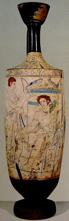 White funerary lekythos, circa 410 BC, The National Archeological Museum, Athens