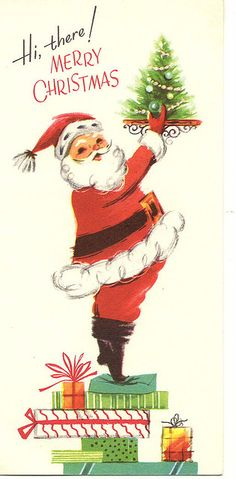 Hi, there! Mid Mod Christmas card.