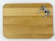 Tides Cheese Board with Polished Crab Detail