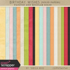 Birthday Wishes Solid Papers Kit